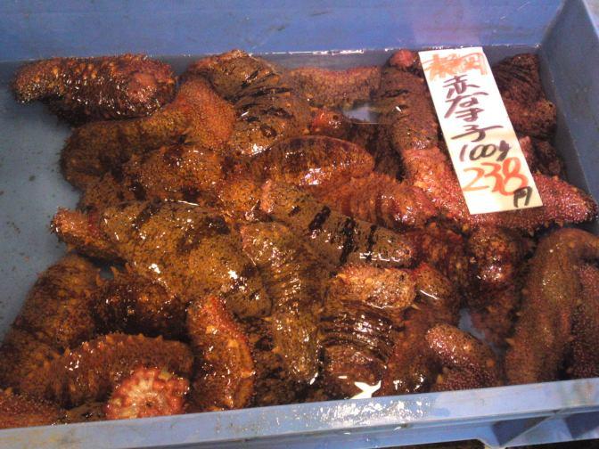 Local Shizuoka Fish & Seafood At Parche Fish Market In Shizuoka City: Including Red Sea Slugs!