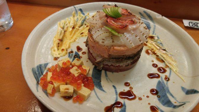 Sushi Art: Seared Sushi Millefeuille by Chef Kenta Birukawa at Sushi Ko in Shizuoka City!