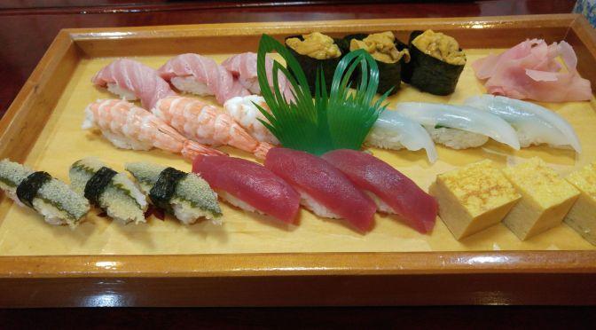 Sushi Dinner at Miyako Sushi in Shizuoka City!!