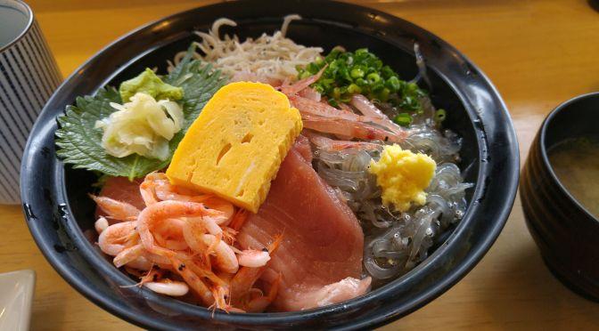 Local Seafood Bowls at Jiroumaru in Mochimune Harbour, Shizuoka City!